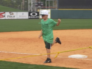 Running the bases at TigerTown in Lakeland.