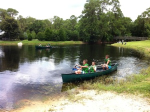 Canoeing at Disney's Fort Wilderness Campground.