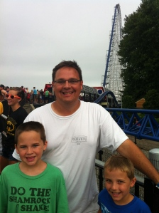 Waiting in line for Millennium Force.