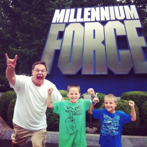 After we rode Millennium Force.