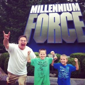 After we rode Millennium Force.