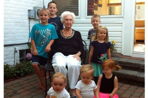 Gigi with all the Michigan cousins.