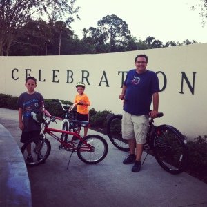 Celebration bike ride with the family.