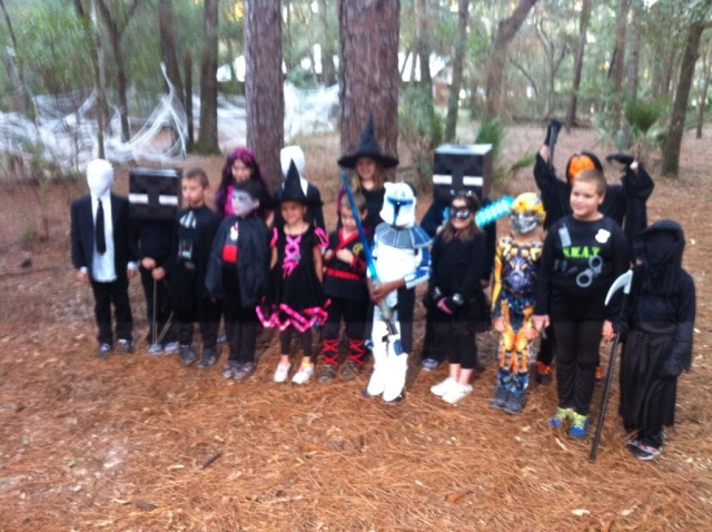 Our camp group in costumes.