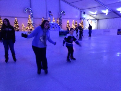 Ice skating with mom.