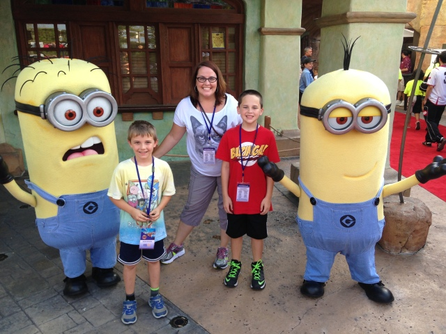 Us with the Minions at Universal Orlando.