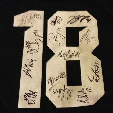 My signed jersey!