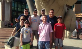 Detroit Tigers game with a bunch of my dad's friends from MSU.
