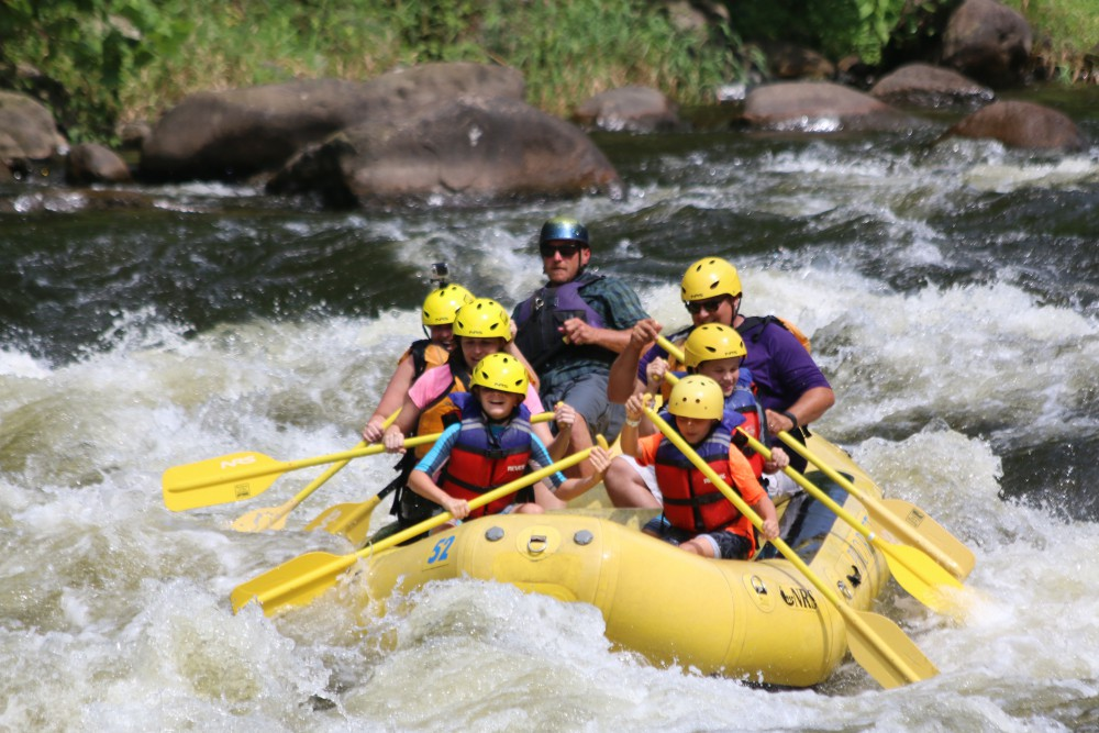Whitewater rafting on the Upper Pigeon River in Tennessee.