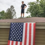 Fourth of July roof fun.