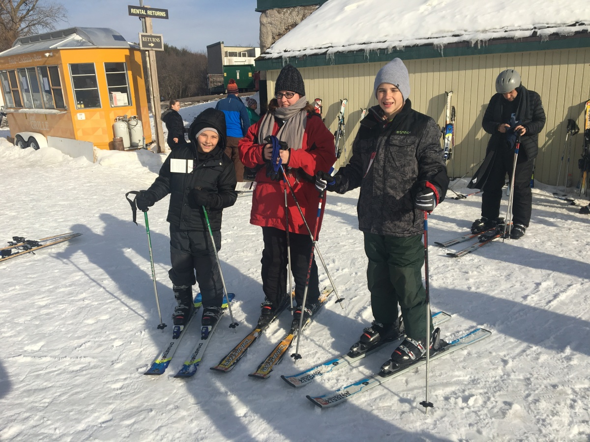 Skiing in Lake Geneva, Wisconsin