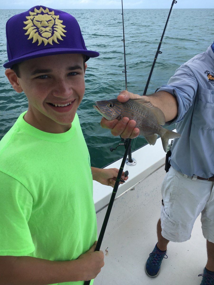 Deep sea fishing off Marco Island